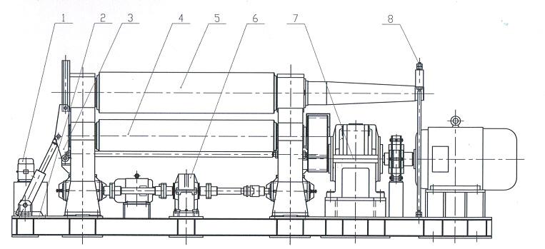 Схематично устройство вальцов